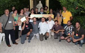 """Lo staff de """"Il Pozzo e l'Arancio"""" con gli amici del comitato promotore Lecce 2019"""