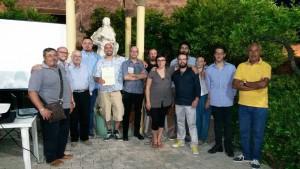Gli organizzatori e i collaboratori con Gionata Atzori (quinto da sx)